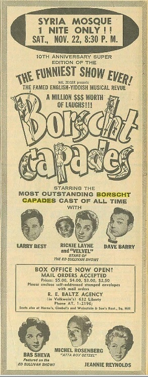 Ad for Borscht Capades